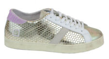 D.A.T.E.: HILL LOW PONG SNEAKER PELLE PLATINO 40MM