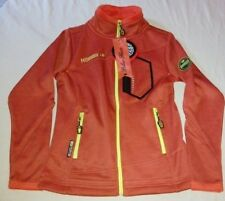 Veste Polaire Geographical Norway couleur orange texture lady 007 neuf