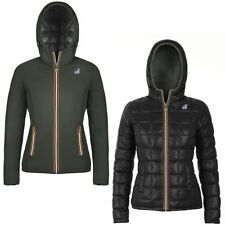 K-WAY Imbottita reverse giacca DONNA CAPPUCCIO LILY THERMO PLUS DOUBLE KWAY 962v