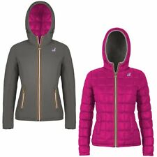 K-WAY Imbottita reverse giacca DONNA CAPPUCCIO LILY THERMO PLUS DOUBLE KWAY 995m