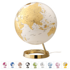 Atmosphere Light & Colour Globe Mappamondo luminoso 30 cm gold silver green pink