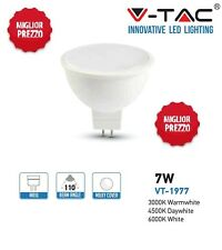 TOP V-TAC LAMPADINA FARETTO LED MR16 GU5.3 7W = 45 W WATT VT-1977 DICROICHE