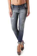 GR 69084 Blu jeans donna sexy woman sexy woman donna jeans con effetto sbiadito