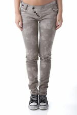 GR 65303 Beige jeans donna sexy woman sexy woman donna jeans chiusura con botton