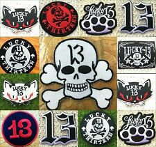 EMBROIDERED PATCH **FREE POST** OUTLAW SKULL BIKER TOTENKOPF