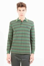 GR 60819 Verde polo uomo fred perry fred perry uomo polo maniche lunghe 2 botton