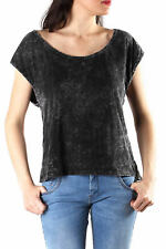 GR 86639 Nero top donna sexy woman top made in italy: senza maniche girocollo ef
