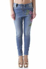GR 63507 Blu jeans donna sexy woman sexy woman donna jeans con chiusura diagonal