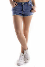 GR 71644 Azzurro shorts donna 525 525 donna shorts made in italy: chiusura front