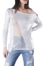GR 85743 Bianco maglia donna sexy woman sexy woman donna maglie made in italy: m