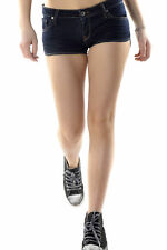 GR 71646 Blu shorts donna 525 525 donna shorts made in italy: chiusura frontale