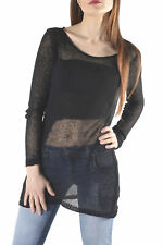 GR 85746 Nero maglia donna sexy woman sexy woman donna maglie made in italy: man