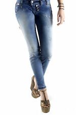GR 71804 Blu jeans donna sexy woman sexy woman donna jeans tasche chiusura front