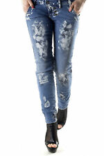 GR 71812 Blu jeans donna sexy woman sexy woman donna jeans tasche chiusura front