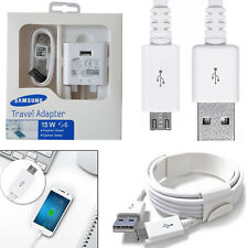 Genuine Samsung Galaxy S6 S7 Edge Fast Charger Mains Travel Adapter / USB Cable