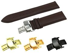 Dark Brown Genuine Leather  Strap/Band fit TISSOT Watch Clasp 18 19 20 21 22mm