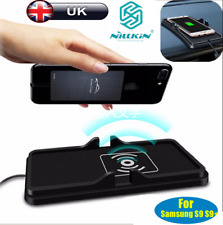 UK 2in1 Qi Wireless Fast Charger Car Dashboard Phone Holder Mount Non-Slip Mat