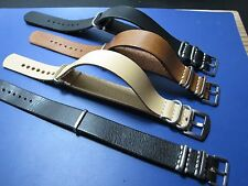 20mm - Nato Zulu Strap Leather cuero Correa Reloj Pulsera Watch band