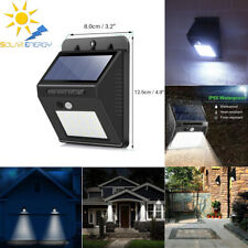 20 LED Solar Luz de Pared Impermeable PIR Sensor de Movimiento Lámpara Exterior