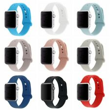 Apple Watch Band 38/42mm Soft Silicone Replacement Wristband Classic Sport Strap