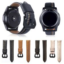 22mm Genuine Leather Band Classic Clasp Strap Belt for Samsung Gear S3 Frontier