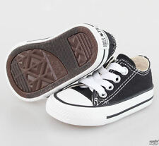 New Converse Unisex Black Low Top For Infants - (7J235) All Size