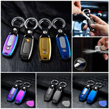 3 in 1 Electric Rechargeable Windproof Flameless USB Cigarette Lighter Keychain