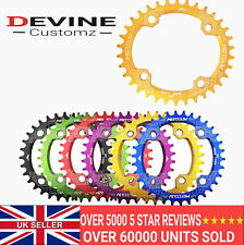 MTB chain ring Wide / Narrow teeth 30 32 34 36 38t Red Gold Blue Black 104bcd