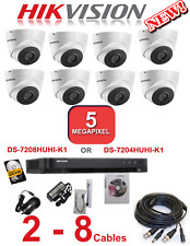 HIKVISION CCTV ULTRA HD 4K 5MP NIGHT VISION OUTDOOR DVR HOME SECURITY SYSTEM KIT