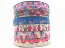 DIY5-100 Yard 1''25MM Bread Printed Grosgrain Ribbon Hair Bow Sewing Ribbon