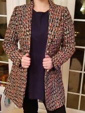 BRAND NEW LADIES WOMENS MULTI COLOURED TWEED BOUCLE BLAZER SIZES S,M,L