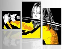 Quadro Dipinto a Mano Moderno Quadri Su Tela Canvas Kill Bill Pop art cinema