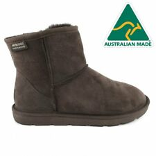 Mubo UGG 36904 CHOCOLATE WATER RESISTANTS AUSTRILIAN MADE CLASSIC MINI UGG BOOTS