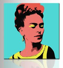 Quadro Dipinto a Mano Moderno Quadri su Tela Canvas Frida Kahlo Pop art ritratto