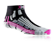 X-Bionic Run Speed Two Mujer Negro Transpirables Calcetines Para Deporte Correr