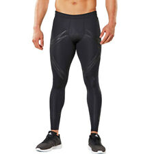 2XU Lock Mens Black Compression Triathlon Sports Long Tights Bottoms Pants