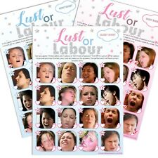 LUST OR LABOUR - Baby Shower Game, 20 Players, Party Boy Blue Girl Pink Unisex