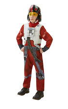 Kids Boys Childs Poe Xwing Fighter Deluxe Fancy Dress Costume Outfit Star Wars