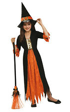 Girls Kids Childs Gothic Witch Fancy Dress Costume Outfit Rubies Halloween