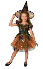 Girls Kids Childs Elegant Witch Fancy Dress Costume Outfit Rubies Halloween
