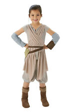 Girls Kids Childs Rey Deluxe Fancy Dress Costume Outfit Rubies STAR WARS