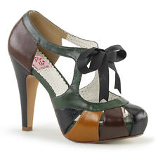 Decollete Decoltè Scarpe Donna Marrone Nero Verde Tacco 11 Pleaser Bettie-19