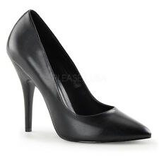 Scarpe Donna Decoltè Decollete Simil Pelle Nero Tacco 12 Pleaser Seduce-420
