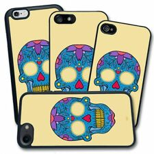 Cover per Apple iPhone - Stampa Teschio Messicano Mexican Skull Blue Cuore