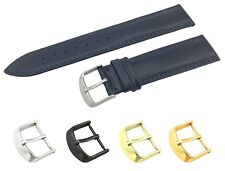 Navy Genuine Leather Flat Strap/Band fit TISSOT Watch Buckle 18 19 20 21 22mm