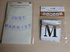 Just Married Marriage Wedding Flag White Silver Mr Mrs Love Heart Banner Bunting
