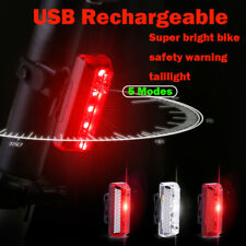 USB Rechargeable Bike LED Tail Light Bicycle Safety Cycling Warning Rear Lamp