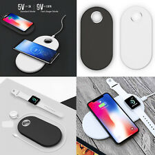 2 in1 Qi Wireless Charger Ladestation Pad Für Samsung S9 iPhone X 8 Apple Watch