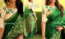 Indian Desinger Superb quality cotton silk saree With embroidery work.