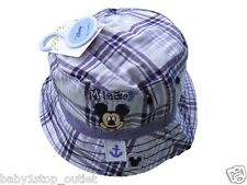 Boys Disney Mickey Mouse Fisherman Sun Hat Blue 0-6 6-12 12-23 Months 2-4Y